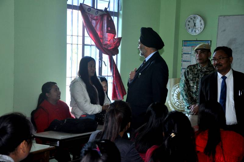 Jarnail Singh, Administrator - M.U., interacts with Students