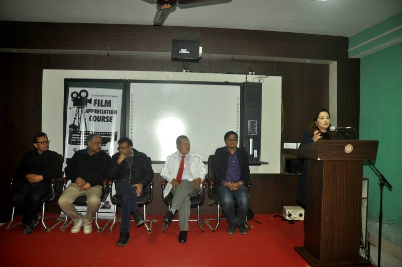 Smt Natasha Elangbam gives vote of thanks in the closing function of Film Appreciation Course
