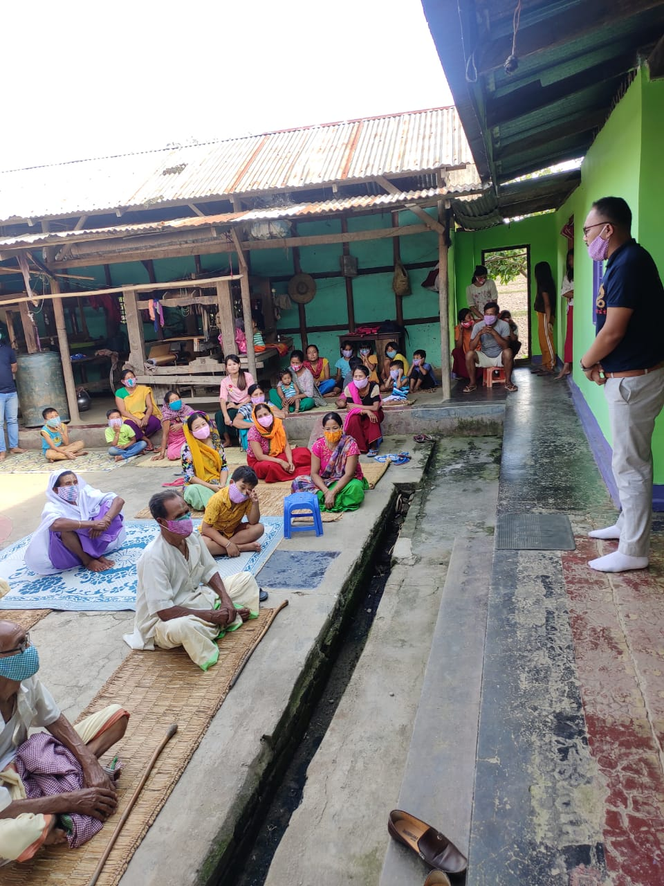 S.Mexico Singh, Research Scholar (Parasitology) delivering a lecture on Zoonotic disease at  Pechi makha leikai.