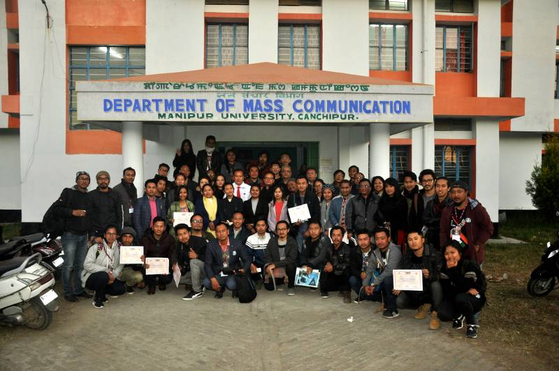 Group photo in the Closing function of the Film Appreciation Course