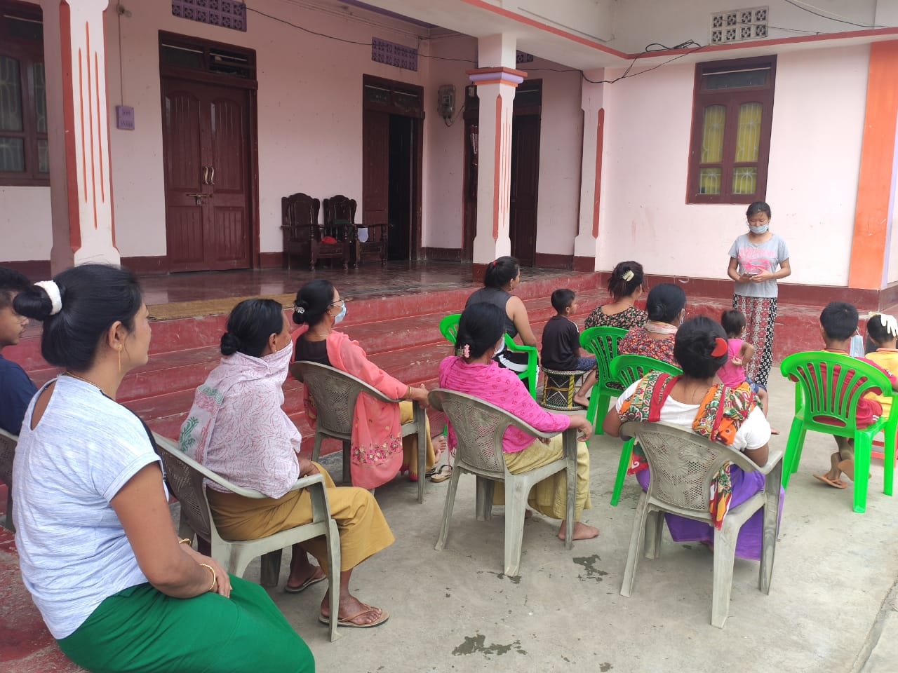 Huidrom Sarjubala Devi at Wangbal, Thoubal district