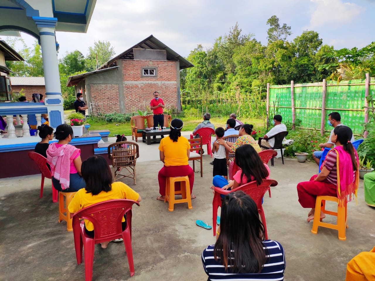 S.Mexico Singh, Research Scholar (Parasitology) held a peaceful interaction with a group at Yairipok  kekru mathak leikai.
