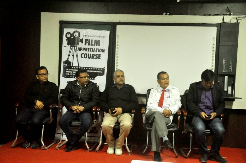 Dignitaries of the Closing Function of Film Appreciation Course on 19th January 2019