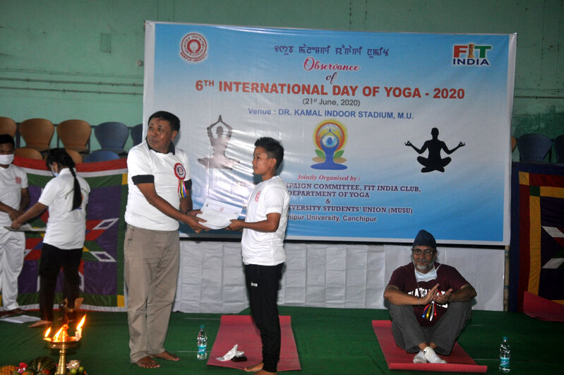 Tonjam Luxmi Devi, 2nd Position, Online Video Blogging State Level Fitness Challenge -2020 (Women Category)