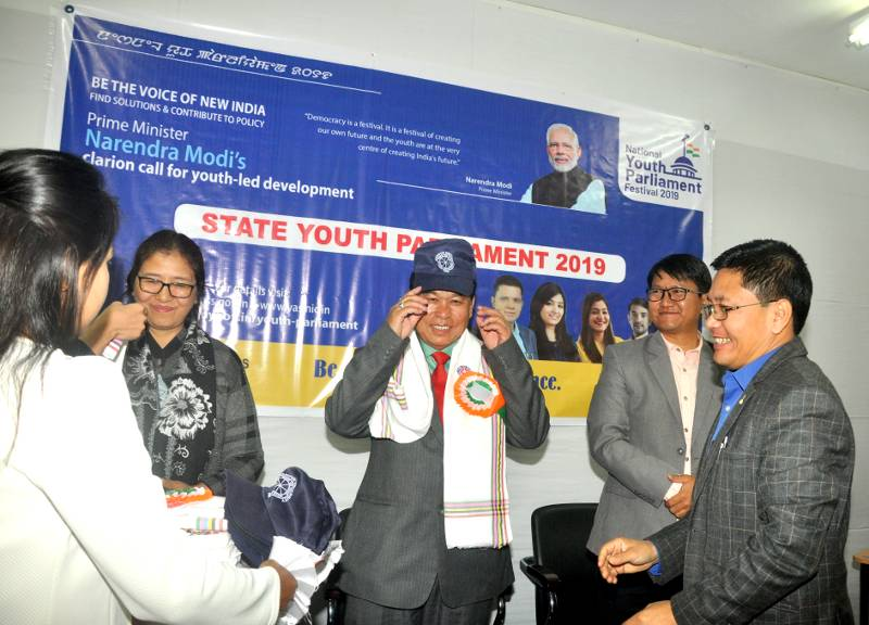 Dignitaries of the festival State Youth Parliament 2019