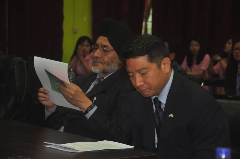 Jarnail Singh With Yoo Chang-ho