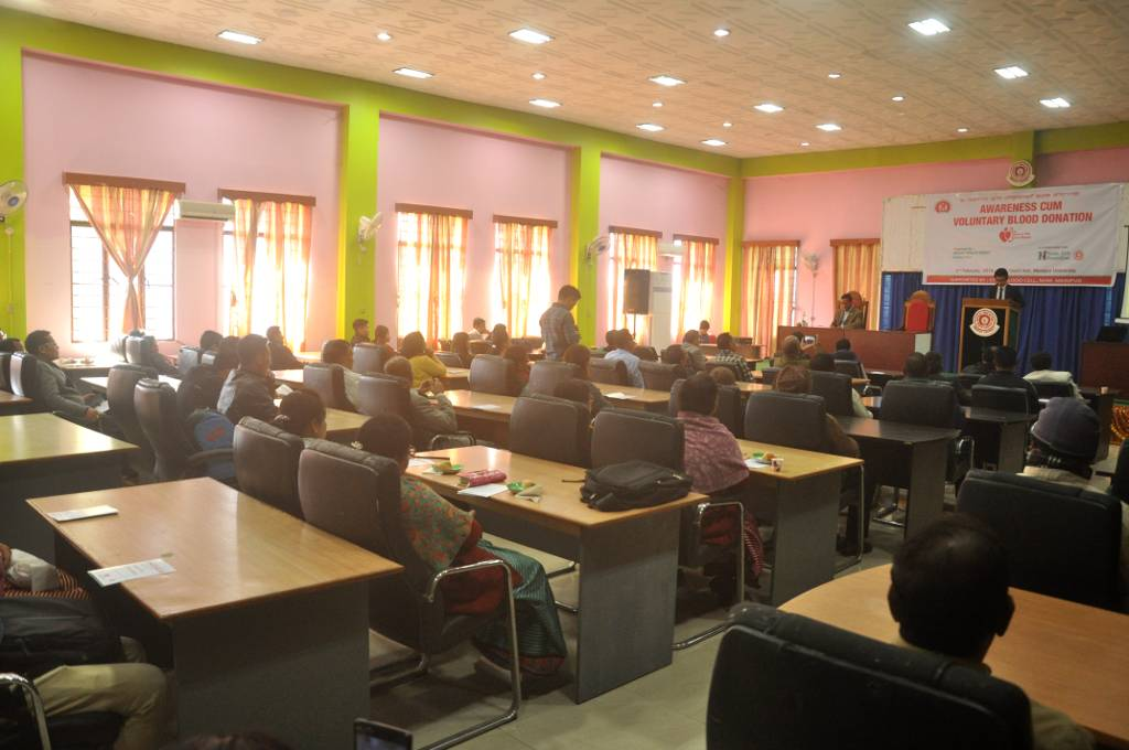 Participants on the awareness programme of Blood donation