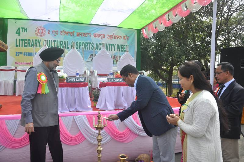 Candle lighting by Prof. N. Lokendro Singh