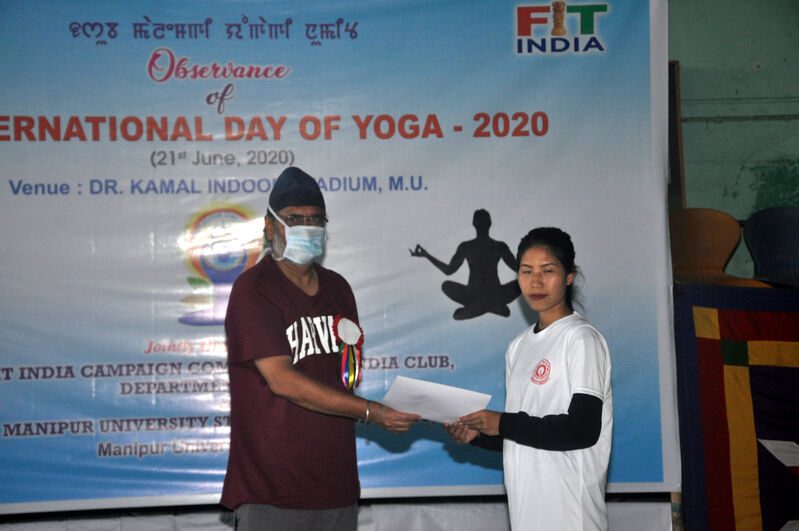 Huidrom Sapana, 2nd Position, Online Video Blogging State Level Yoga Contest -2020