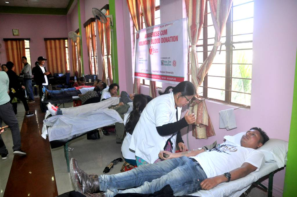 Voluntary Blood Donation at MU on 02-02-2019