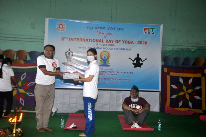 Bidyalakshmi Devi Kongbrailatpam, 3rd Position, Online Video Blogging State Level Fitness Challenge -2020 (Women Category)