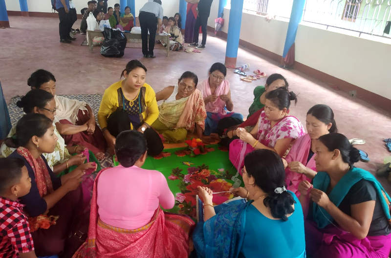 One day Skill development programme as a part of adult literacy classes at Ningomthong Kitna Panung (20-06-2019)