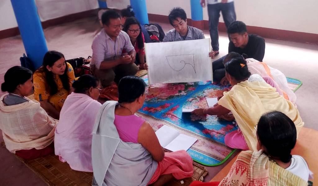 Household survey and adult literacy classes at Ningomthong Kitna Panung