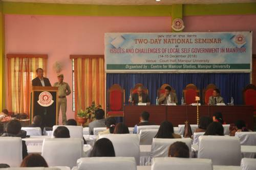 Two Day National Seminar on Issues and Challenges of Local Self Government in Manipur