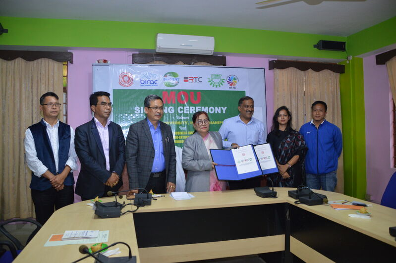 MOU Signing Ceremony between Manipur University and Kalinga Institute of Industrial Technology(KIIT) University on 17/03/2021