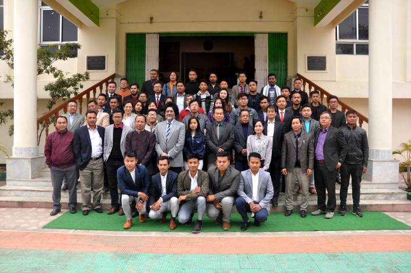 Oath taking ceremony of Manipur University Students' Union, 2018-19