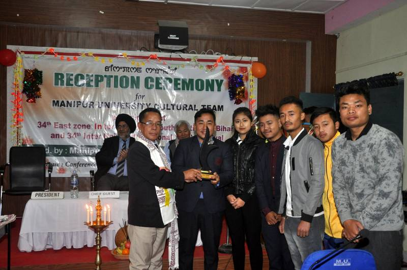 Reception Ceremony of Manipur University Cultural Team