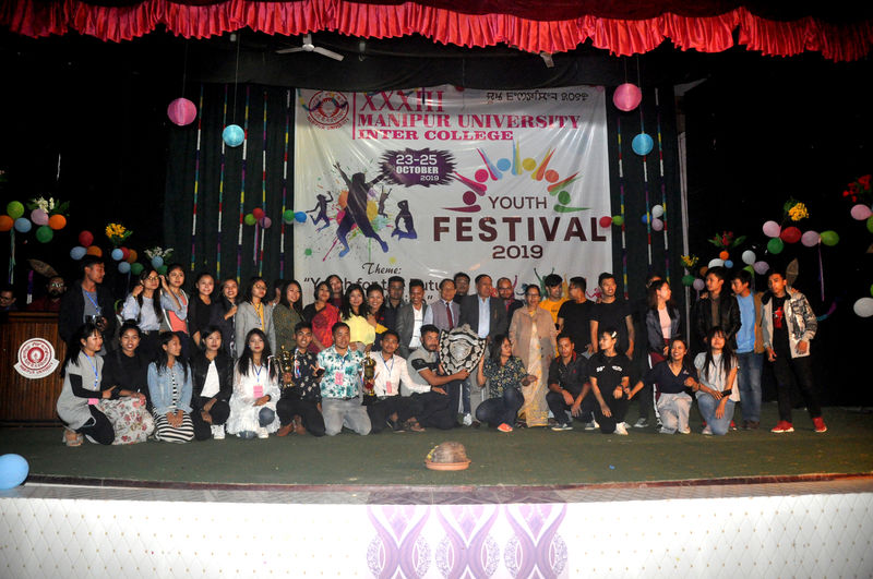 33rd Manipur University Inter-College Youth Festival-2019 DAY-3(25/10/2019)