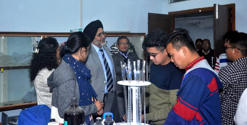Jarnail Singh, Administrator, M.U., visited Life Science & Earth Science Department on 28th January 2019
