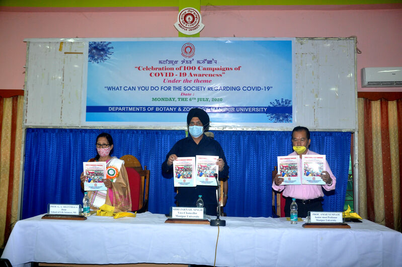 Celebrating of 100 Campaigns of COVID-19 Awareness under the theme 'What can you do for the Society Regarding COVID-19' on 06/07/2020
