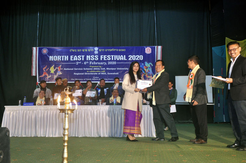 Closing Function of North East NSS Festival 2020 on 06/02/2020