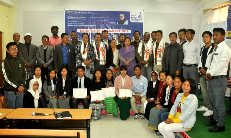 NSS Cell MU organised the festival State Youth Parliament 2019