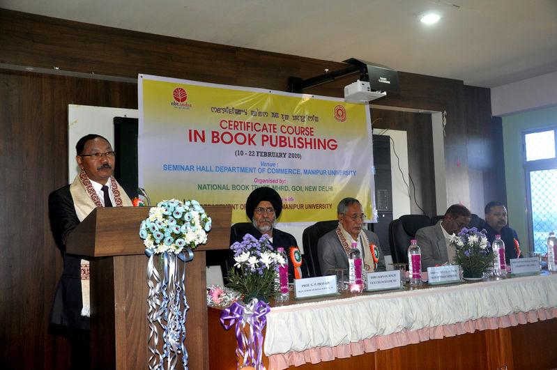 Inaugural function of 2 weeks job oriented Certificate Course in Book Publishing on 10/2/2020 at  Seminar Hall, Commerce Deptt. MU