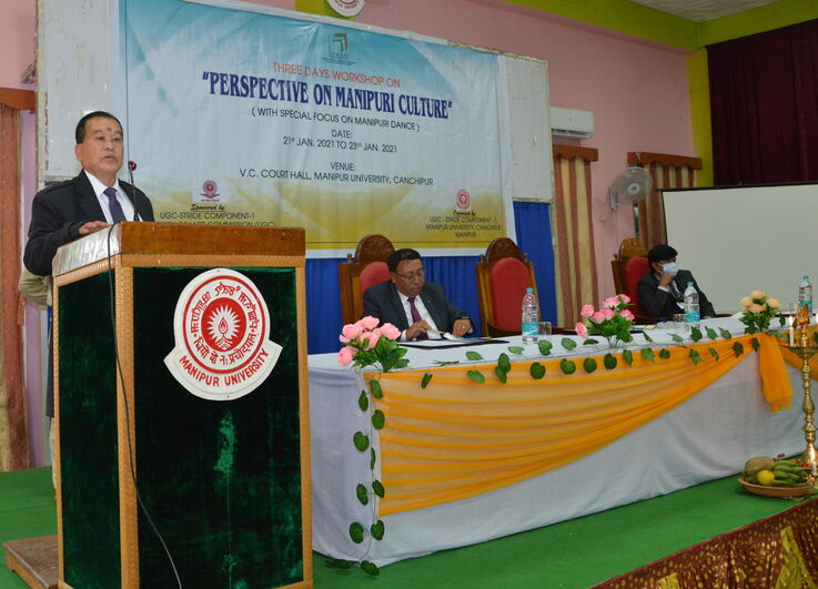 Inaugural function of Three Days Workshop on PERSPECTIVE ON MANIPURI CULTURE at Manipur University Court Hall on 21/01/2021