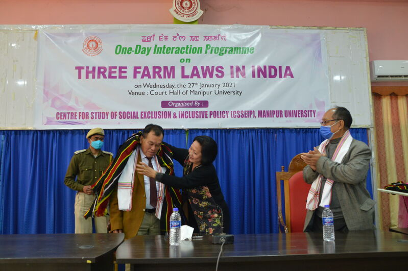 One-Day Interaction Programme on THREE FARM LAWS IN INDIA on 27/01/2021