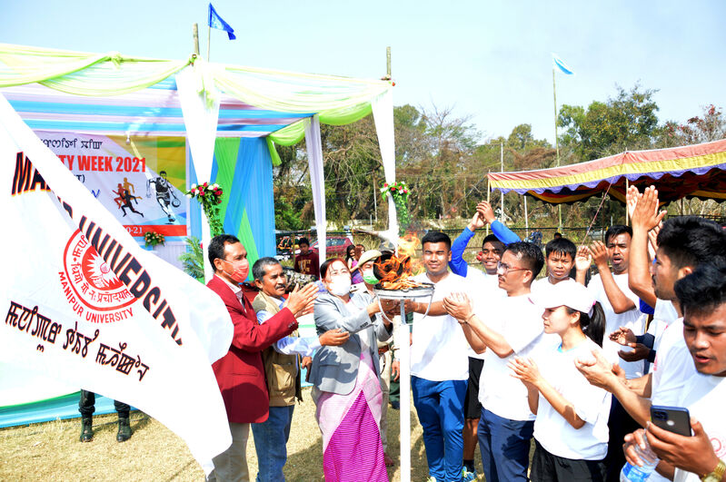 Opening Ceremony of Annual Manipur University Week 2021 on 01/03/2021