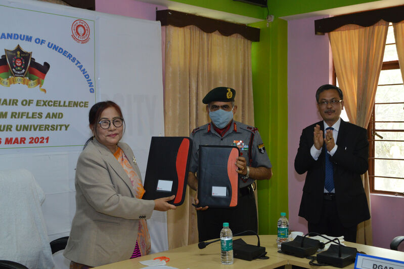 MoU Signing Ceremony For Academic and Cultural Exchanges Programme (Assam Rifles & Manipur University)