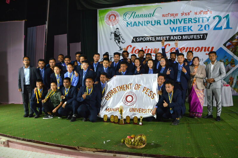 Closing Ceremony of Annual Manipur University Week 2021 (Sports Meet and MUFEST) on 06/03/2021