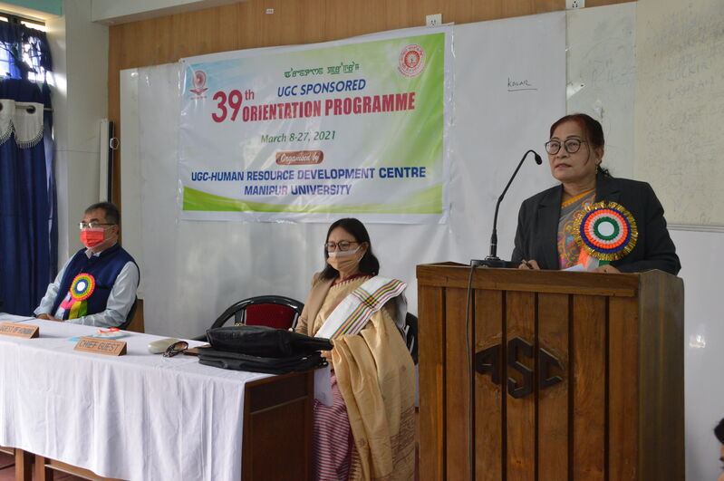 UGC Sponsored 39th Orientation Programme on 8/3/2021