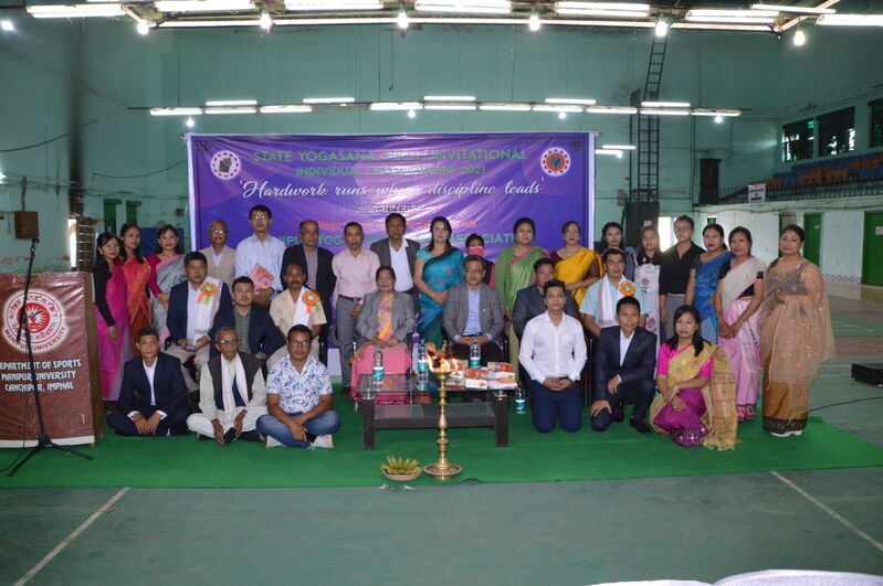 Valedictory Function of the 1st State Level Individual Open Yogasana Sport Championship on 15/3/2021