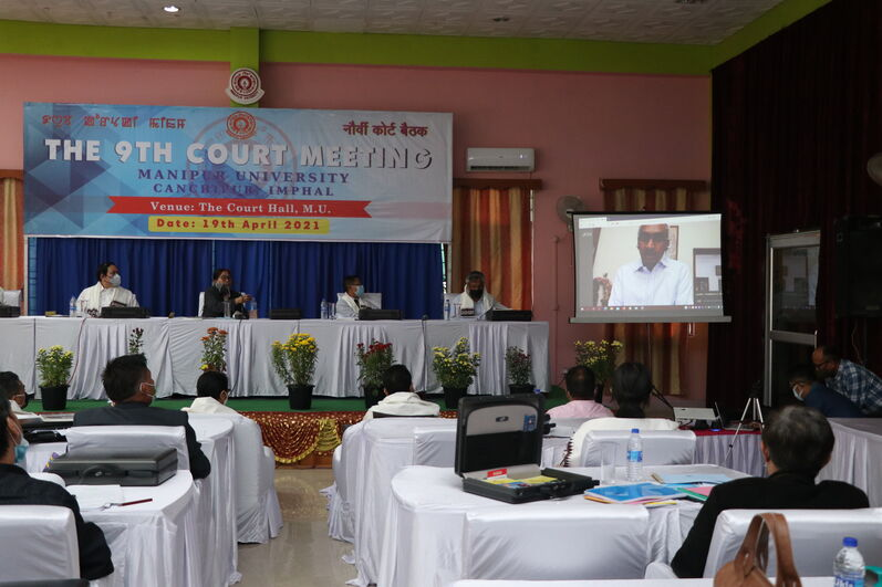 The 9th Court Meeting of Manipur University on 19/04/2021