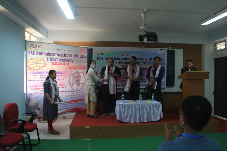 Inaugural function of ISAK Level 1 International Accreditation Course in Kinanthropometry on 18/03/2021