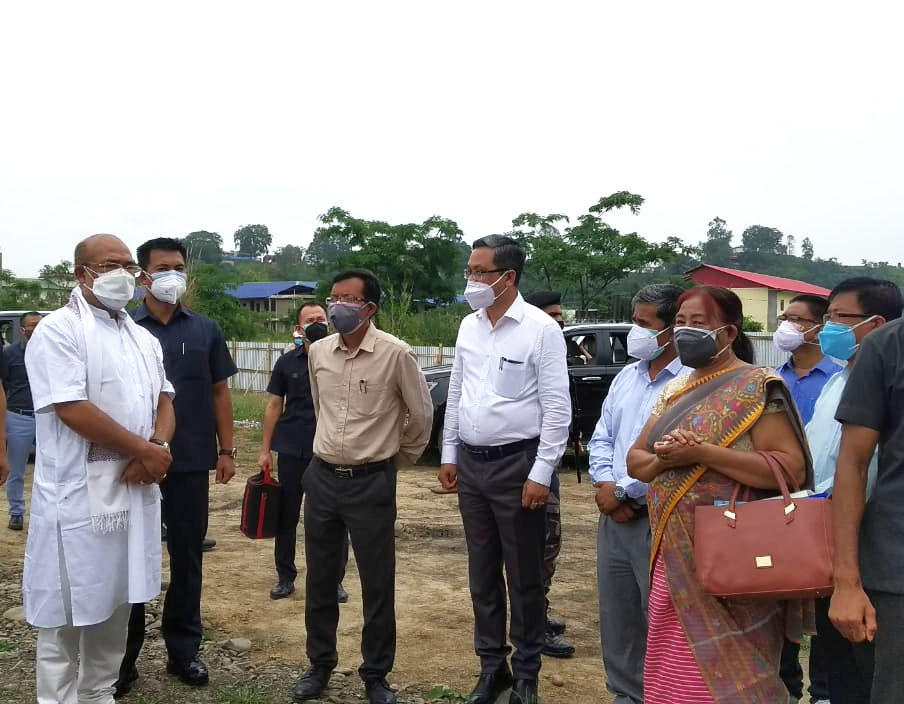 Inspection for setting up of 300 bedded Covid Care Centre(CCC) at Manipur University and Observance  the 'World Environment Day'
