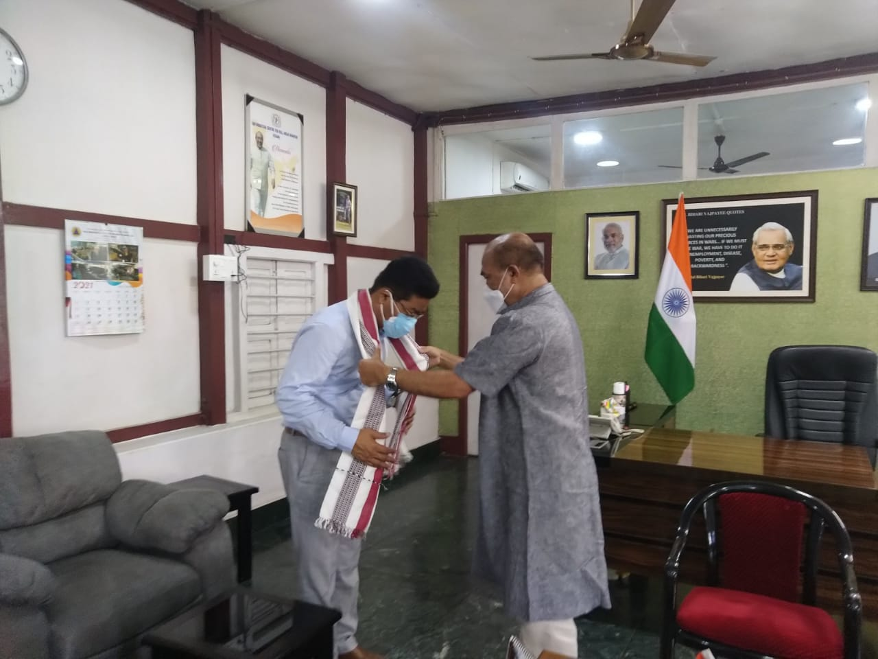 Honourable Chief Minister and VC Manipur University on 27/07/2021