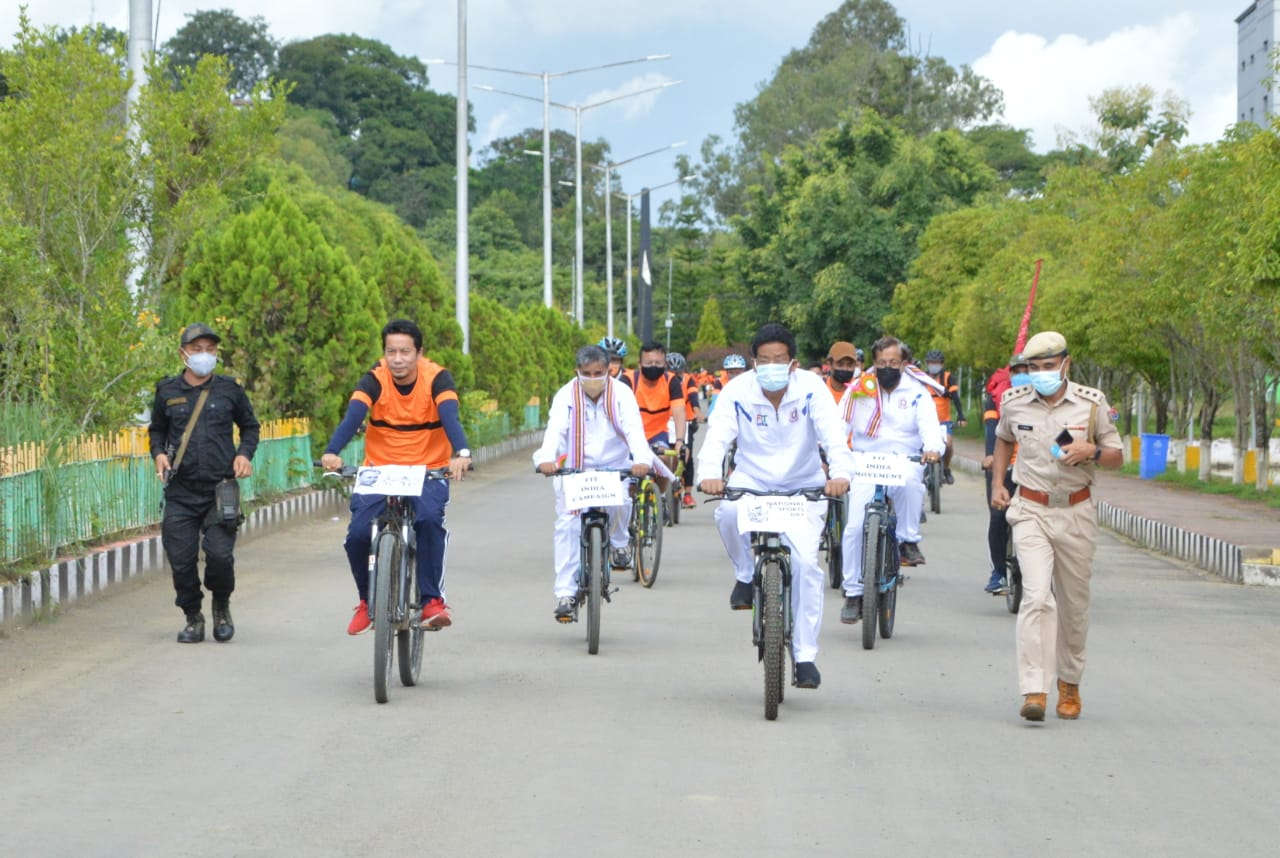 Cycle Rally on National Sports Day 2021