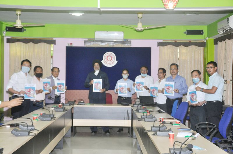 Launching of i-Vision Volume-I May 2020, an e-Magazine of Manipur University on the theme 'COVID-19'