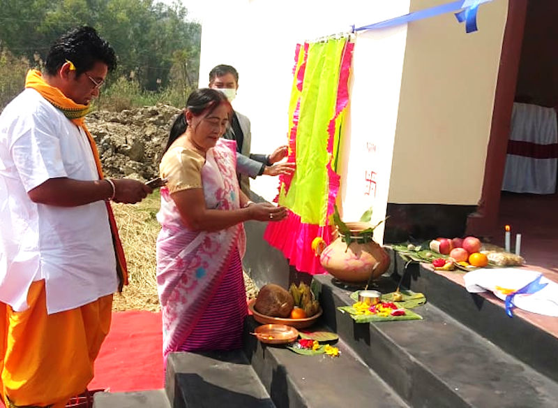 Inauguration of Shopping Complex Manipur University on 22/03/2021