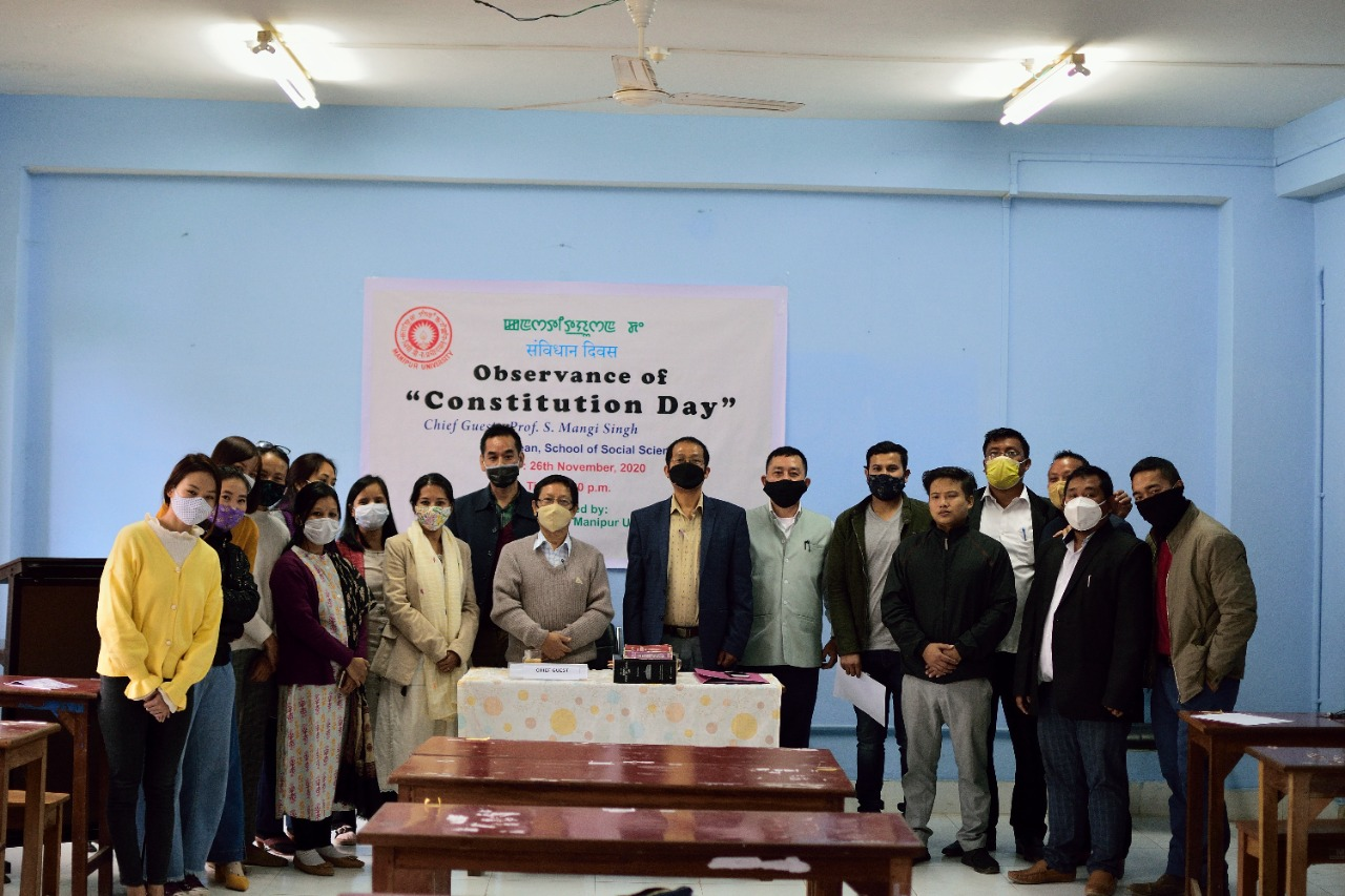 Observance of Constitution Day at MU on 26/11/2020