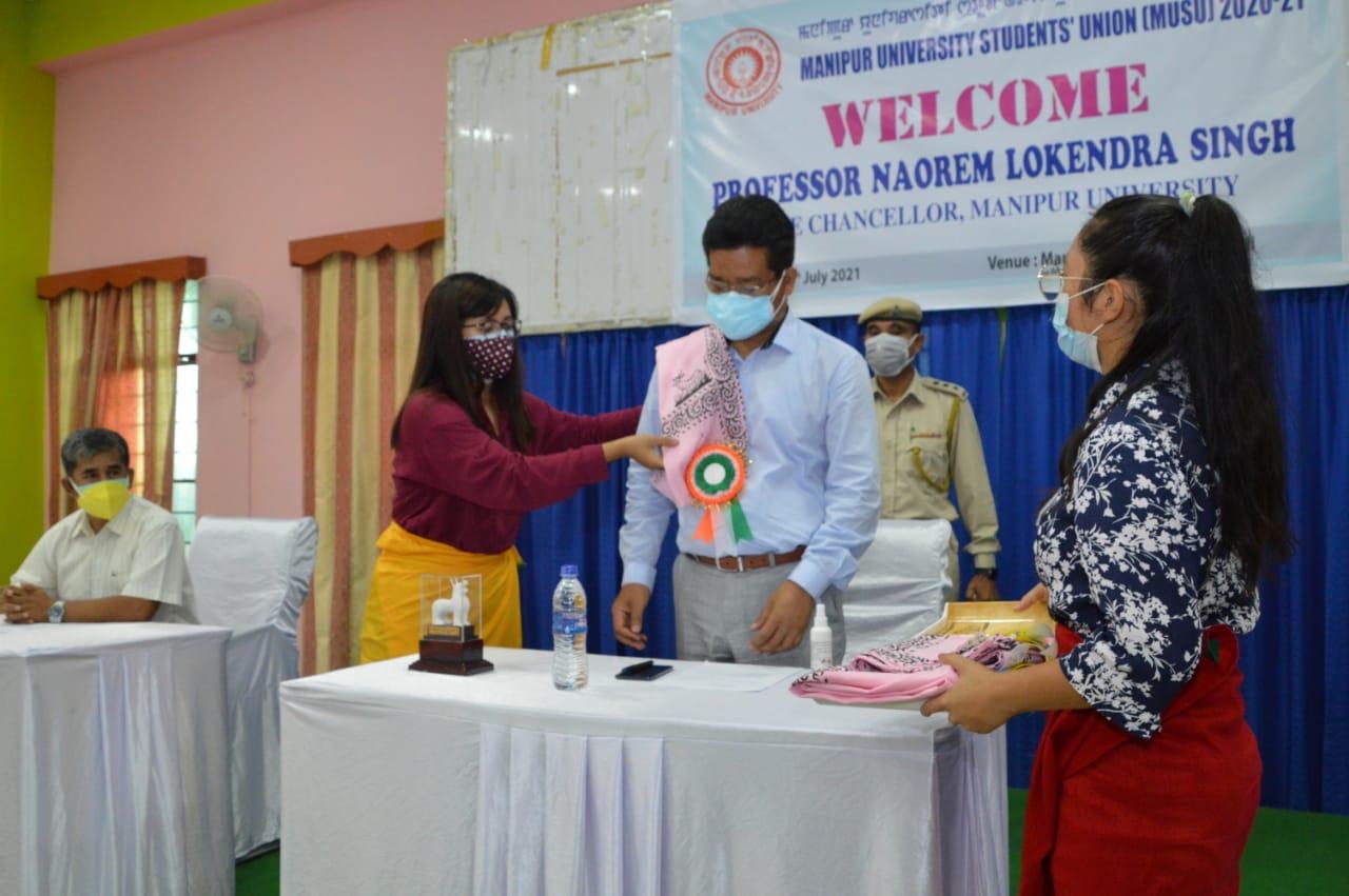 MUSU 2020-21 Welcome Prof. Naorem Lokendra Singh, Vice Chancellor, M.U. on 26/07/2021