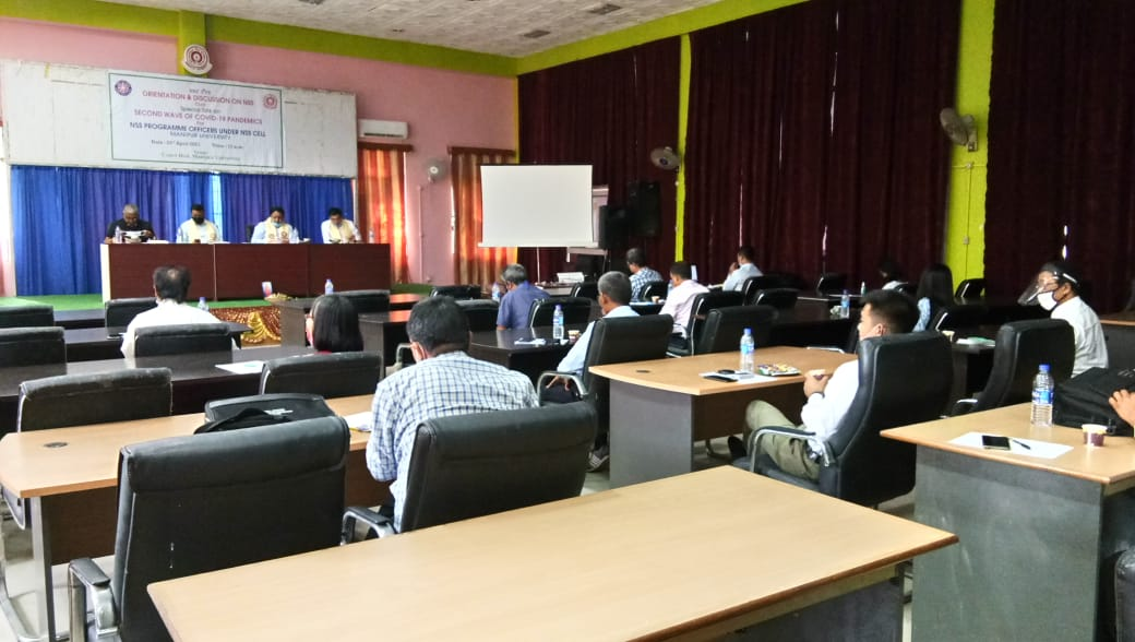 One day Orientation & Discussion on NSS Cum Mitigation of Second Wave of Covid-19 Pandemics for Programme Officers under NSS Cell