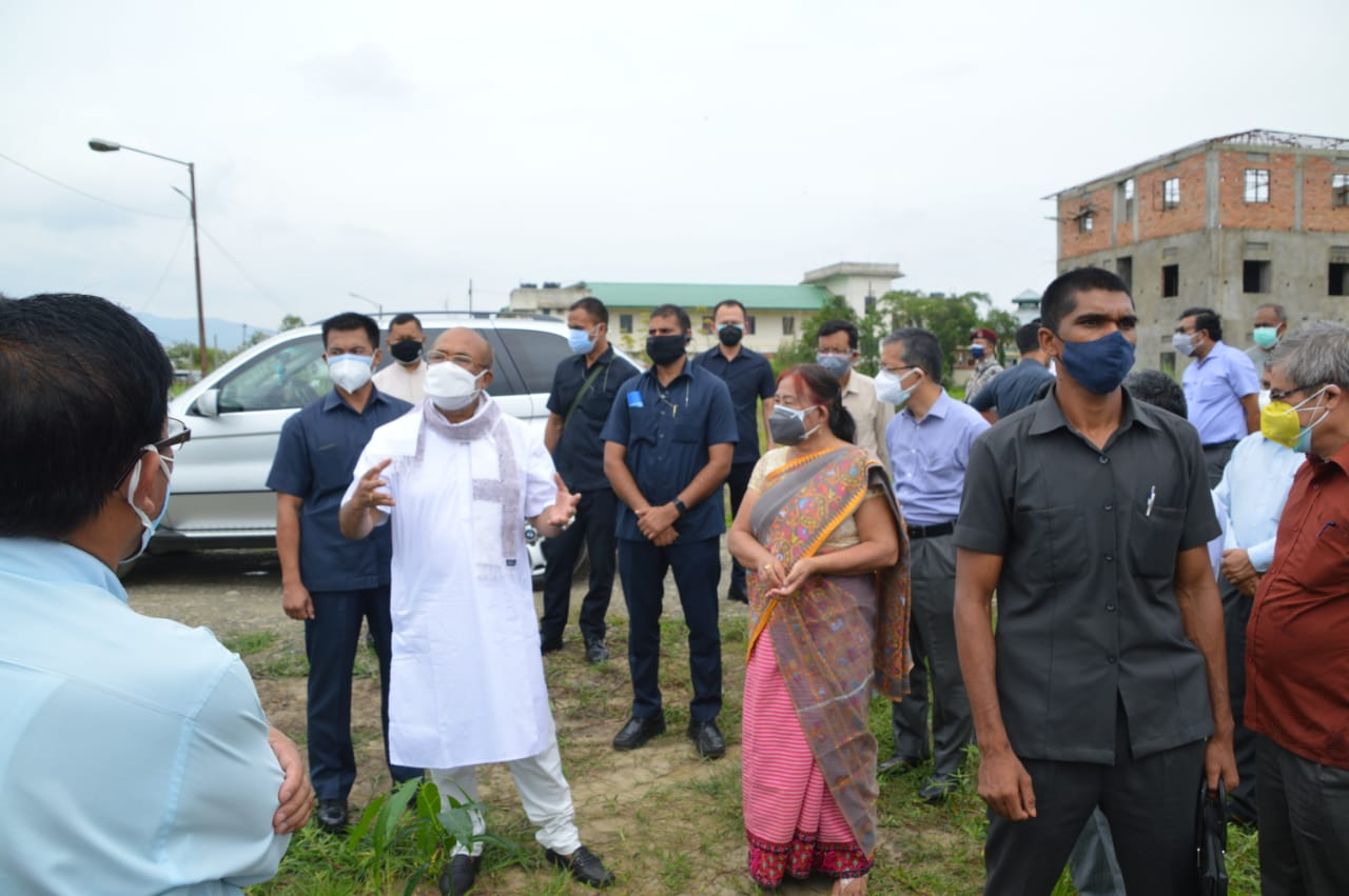 Plantation of Tree at Manipur University by N. Biren Singh, Hon'ble Chief Minister of Manipur on World Environment Day 2021